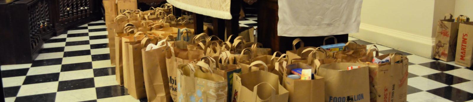Food Gifts At Altar