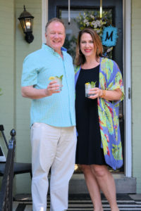 John and Cynthia McCard on their front porch