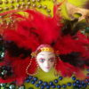 Image - Mardi Gras red feather mask